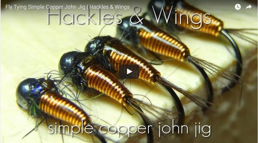 Fly Tying Simple Copper John Jig by Hackles & Wings
