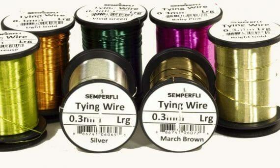 Fly tying Semperfli Wire Ribbing 0.3mm many colours