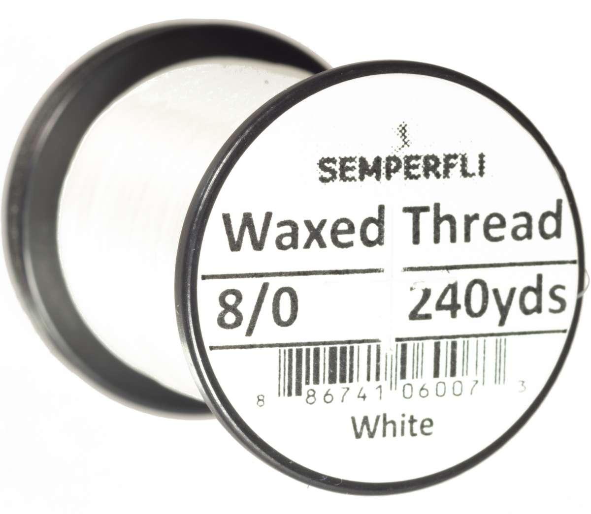 8/0 Classic Waxed Thread White Sem-0400-1200