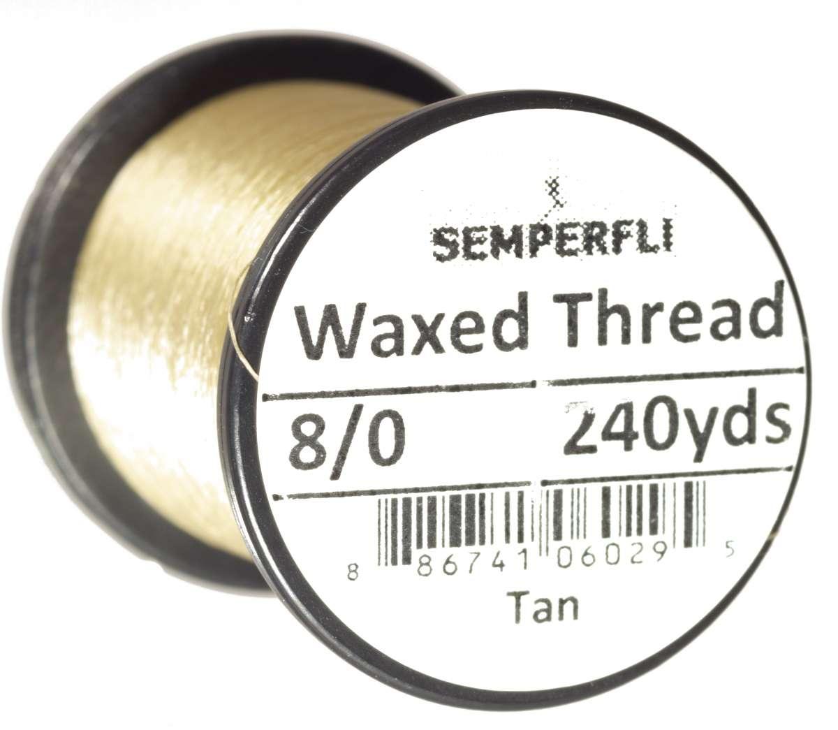 8/0 Classic Waxed Thread Tan Sem-0400-1536
