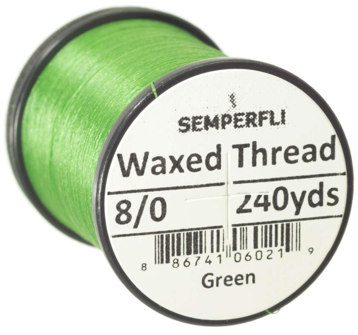 8/0 Classic Waxed Thread Green Sem-0400-1604