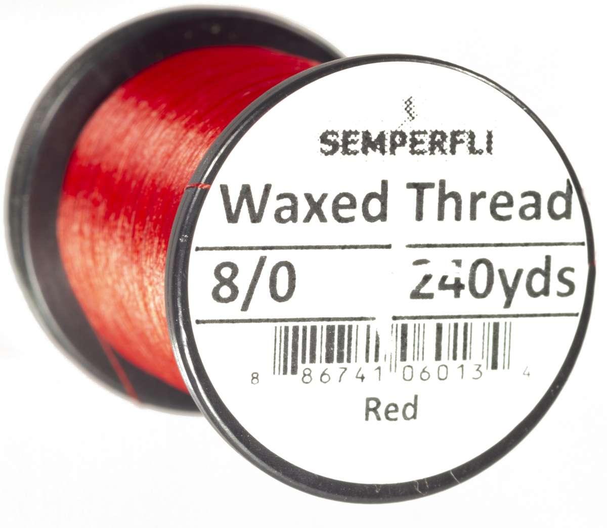 8/0 Classic Waxed Thread Medium Red Sem-0400-1635
