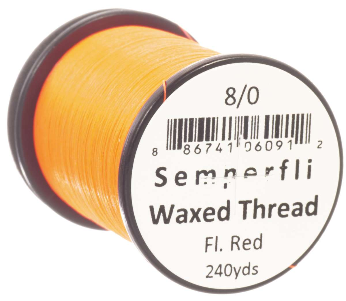 8/0 Classic Waxed Fluoro Red Sem-0400-1722