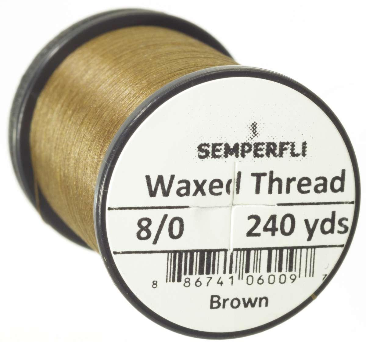 8/0 Classic Waxed Thread Brown Sem-0400-1820