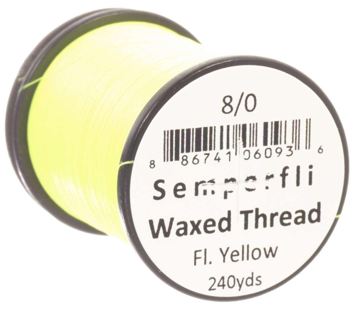 8/0 Classic Waxed Fluoro Yellow Sem-0400-1835