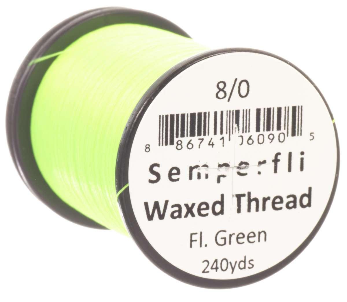 8/0 Classic Waxed Fluoro Green Sem-0400-1838