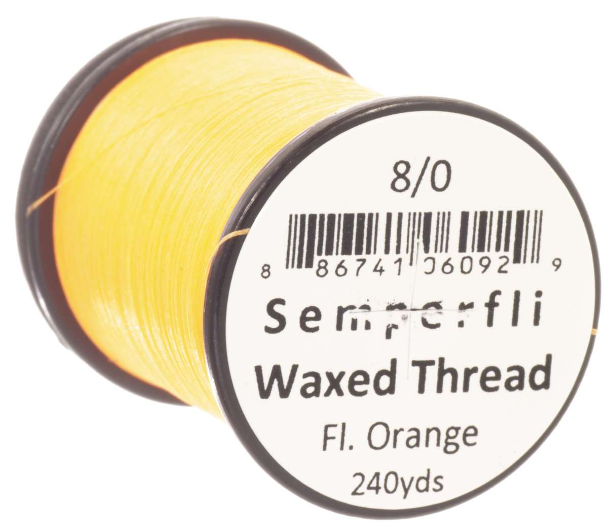 8/0 Classic Waxed Fluoro Orange Sem-0400-1871