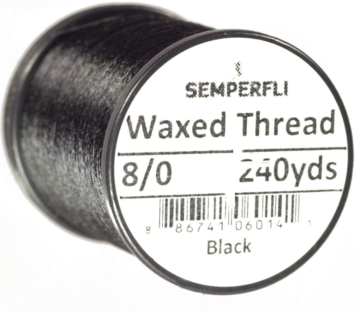 8/0 Classic Waxed Thread Black Sem-0400-2000