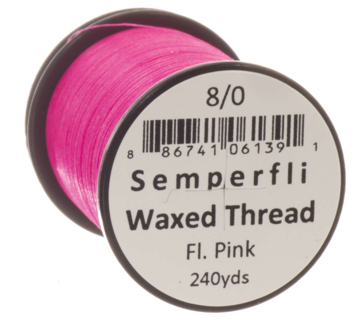 8/0 Classic Waxed Fluoro Pink Sem-0400-4627